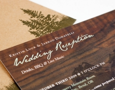 Luck/Donatelli Wedding Invitations