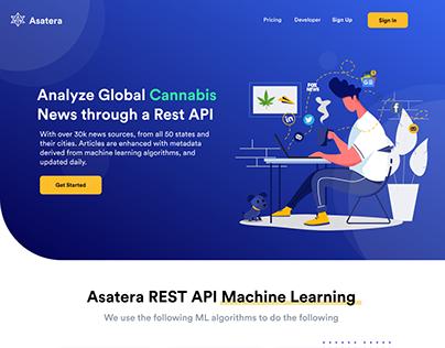 Global Cannabis News Website UI Design