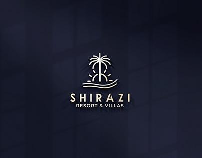 Resort and villas logo, bar and restaurant logo design