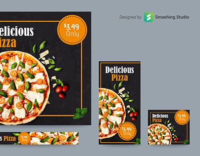 Free Pizza Shop Web Ads Banner Set