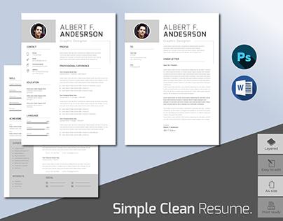 Simple Clean Professional Resume