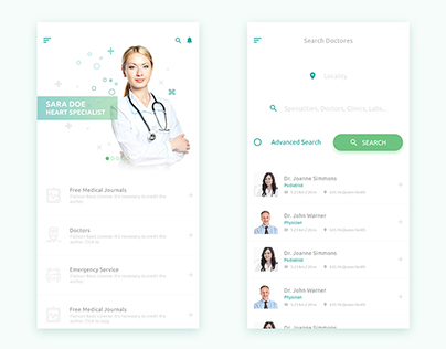 Doctor APP Mobile UI