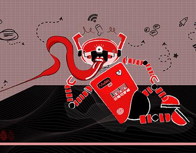 El robó y yo, ilustración