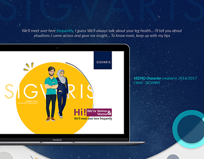 Sigvaris Campaign (Character Design & Social Media)