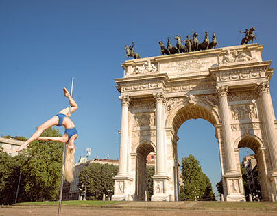 "Urban Pole Dance photoshoot in Milano - ""InMotion"" 2016"