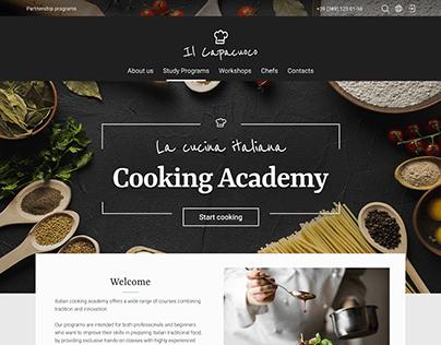 Website for Italian cooking Academy. Responsive design