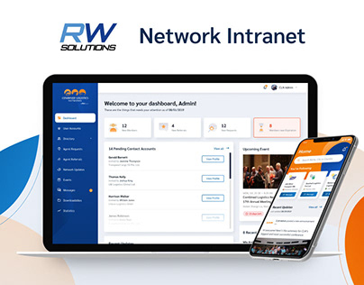 UI/UX Design for RW Solutions Intranet