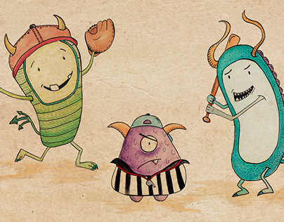 Monster Baseball - Illustration