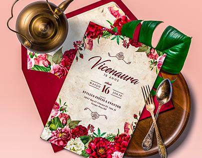 Convite 70º Aniversário e Papelaria | D. Vicenaura