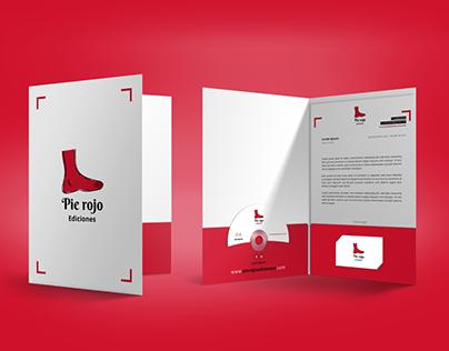 Pie Rojo Ediciones Branding