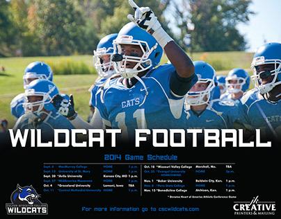 Culver-Stockton College Football Poster 2014