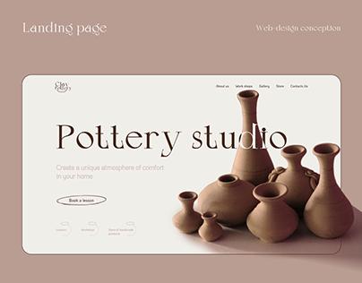 Pottery Studio   Landing page