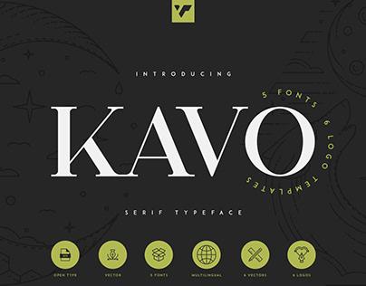 Kavo Serif Typeface   Free font
