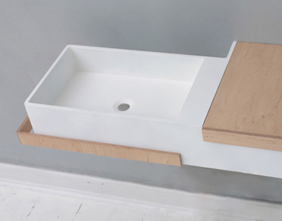 LAGOM washbasin with integrated storage