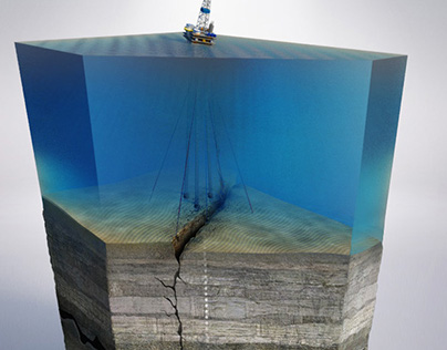Deep Water Settling Sequence Illustration