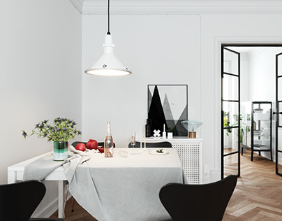 Apartment In Sweden Interior Visualization