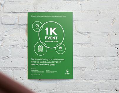 Foo Café 1K Event Poster