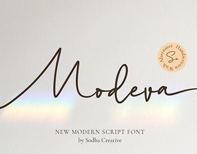 Modeva - Modern Script Font