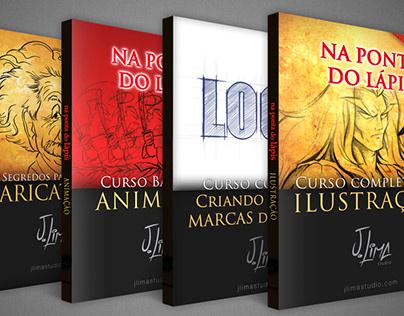 4 Ebooks: Desenho, Animação, Caricatura e Design.