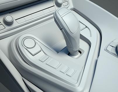 BMW i8 Interior 3D Modeling