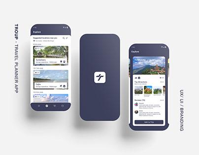 Troup - Travel Planner (Concept App)
