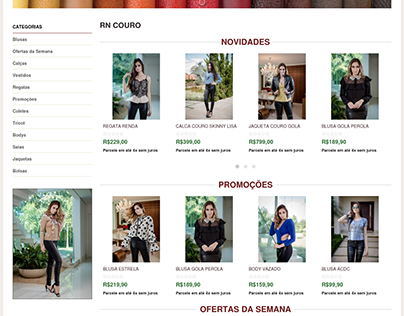 E-Commerce em Magento - RN COURO