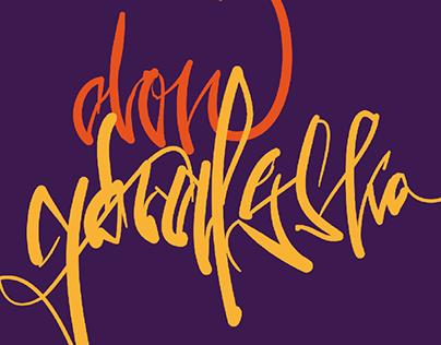 Poczet polskich raperów hand lettering exercises