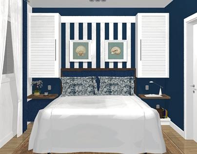 PROJETO: dormitório em casa de praia