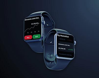 Daily UI Challenge 06 - Stock App on Apple Watch