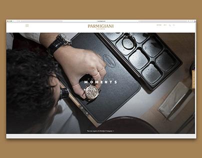 Parmigiani's Precious Moments Webdesign