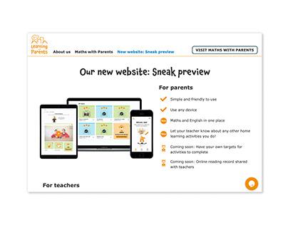 LearningWithParents.Com UI/UX Design
