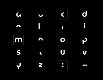 Moderno typographic specimen