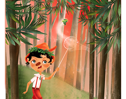 pinocchio in the forest