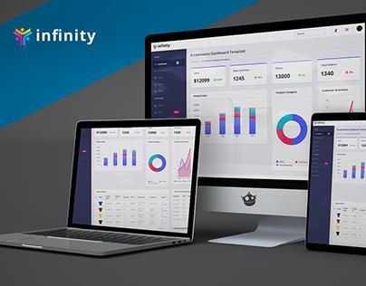 Infinity (E-commerce Dashboard Web UI Design)
