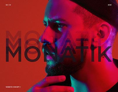 Monatik / website concept