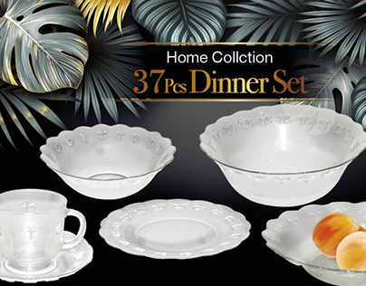 HOME COLLECTION 37-PCS DINNER SET