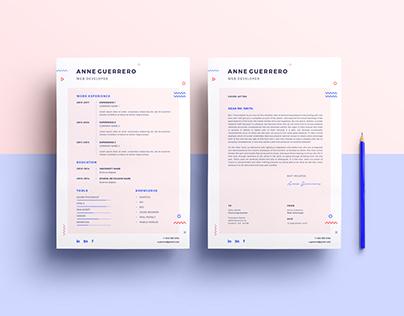 Flat CV/Resume mockup