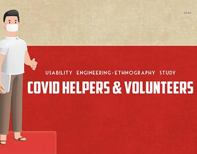 Ethnographic research of Covid Helpers & Volunteers