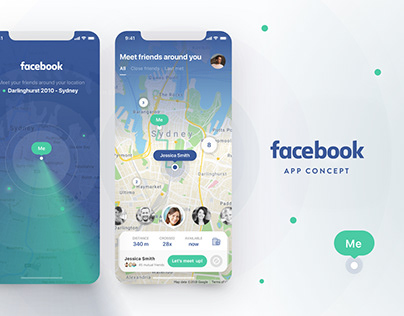 Let's to meet by Facebook! Concept App
