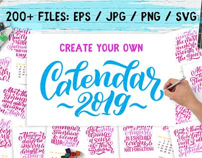 Lettering Calendar Creator 2019