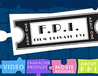 FPI: Film Private Eye Website Design