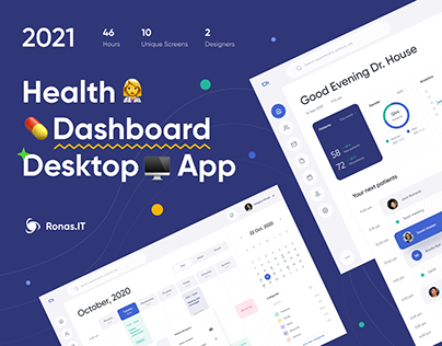 Health Dashboard - Desktop App | UI/UX Design