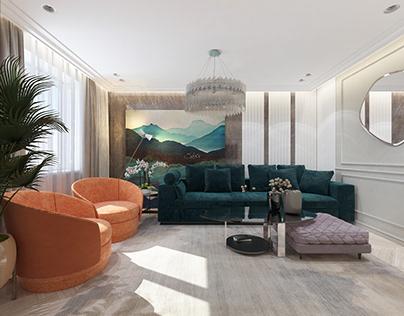 Bright apartement for family in Samara