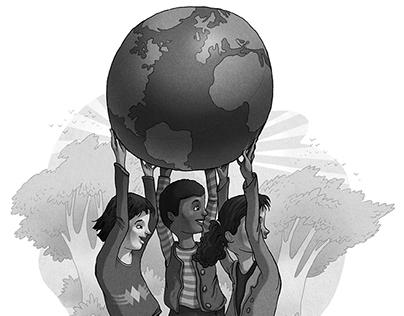 Black & White Spot Illustrations