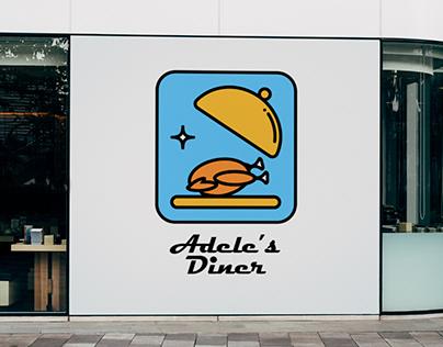 Adele's Diner logo + menu design