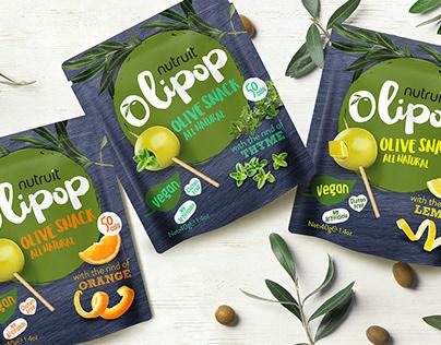 Olipop Olive Snack Packaging Design