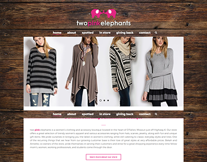 Two Pink Elephants Website Design