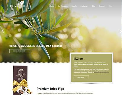 Çevik Gıda Responsive CSS/HTML Kodlama