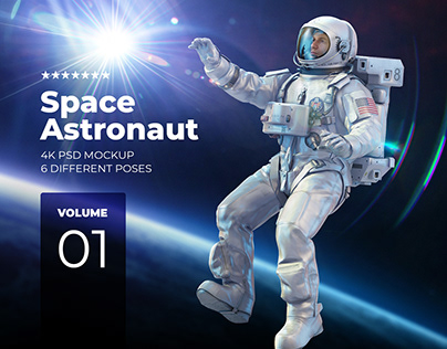 3D Mockup Space Astronaut #1