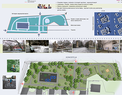 Low budged project of Jordanek park on Powiśle district